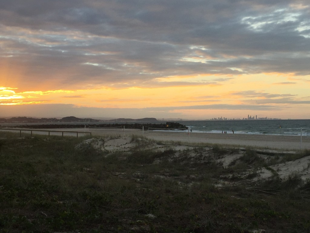 See those high-rises in the distance on the right?  That's Gold Coast - my destination for tomorrow :)