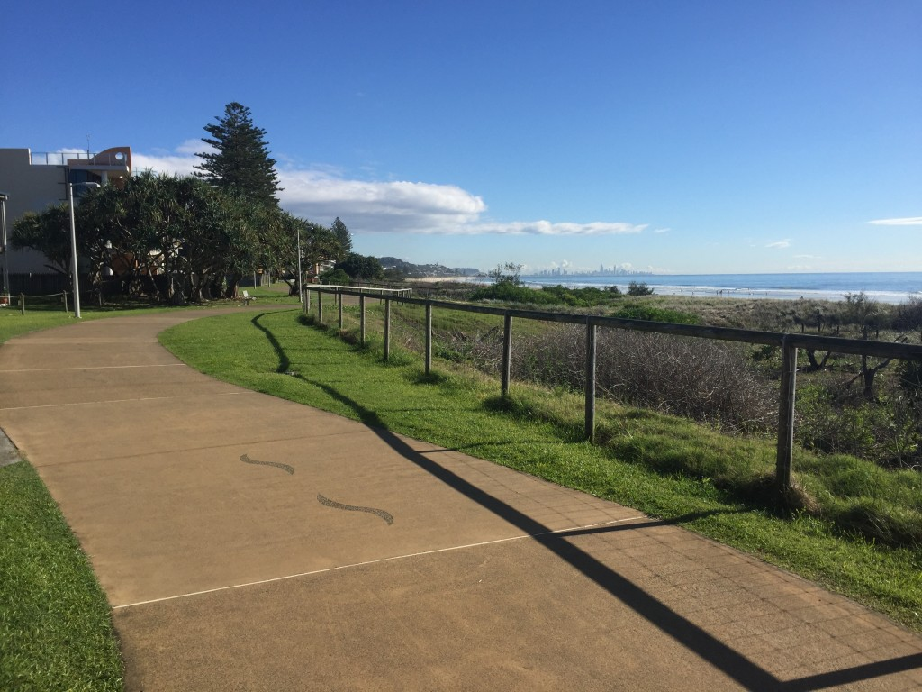 Path along the water in Coolangatta