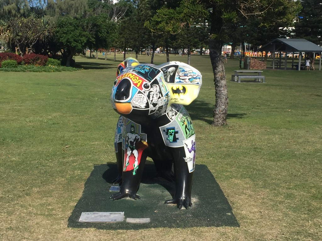 And then back to the path along the water where I had to take a pic of this koala statue