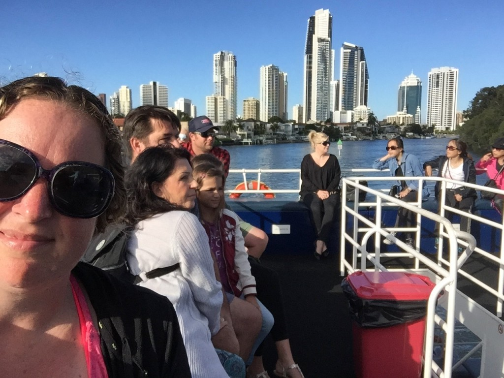 Setting out on our cruise with Gold Coast in the background