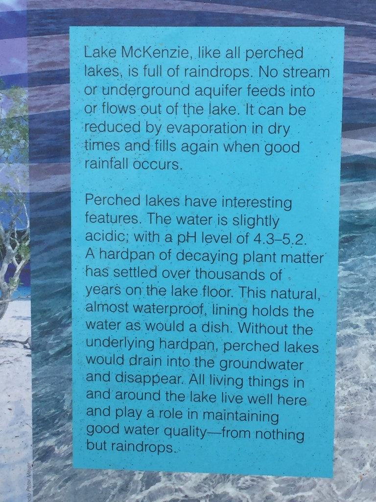 Some info on Lake MacKenzie