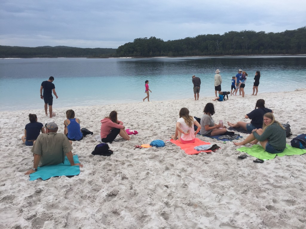 Peeps from the tour and Lake McKenzie