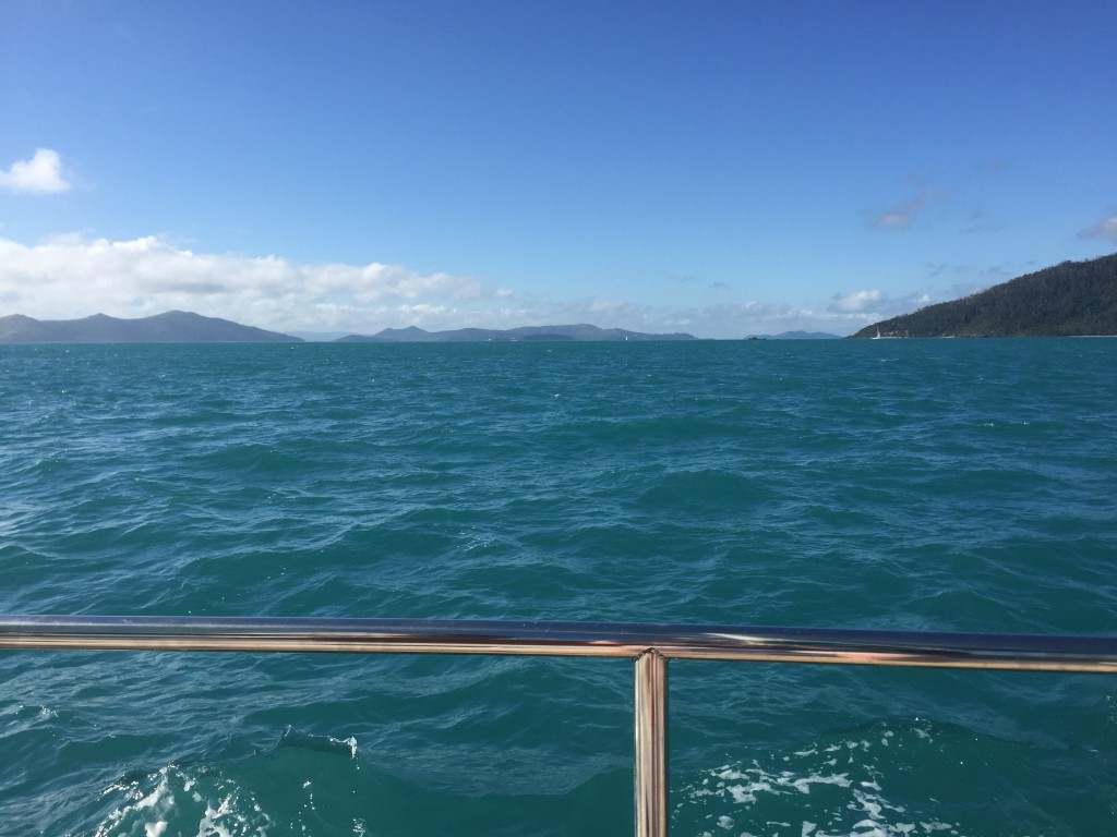 Sailing the Whitsunday Islands (there are 74 islands in total that make up the Whitsundays)