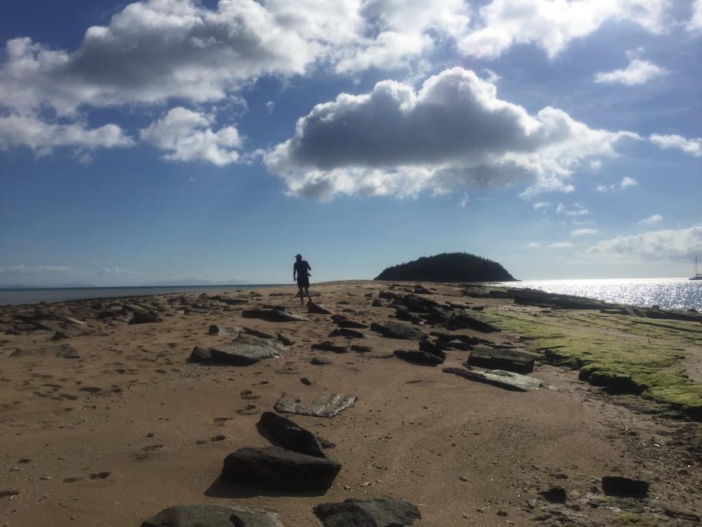 A sandbar island