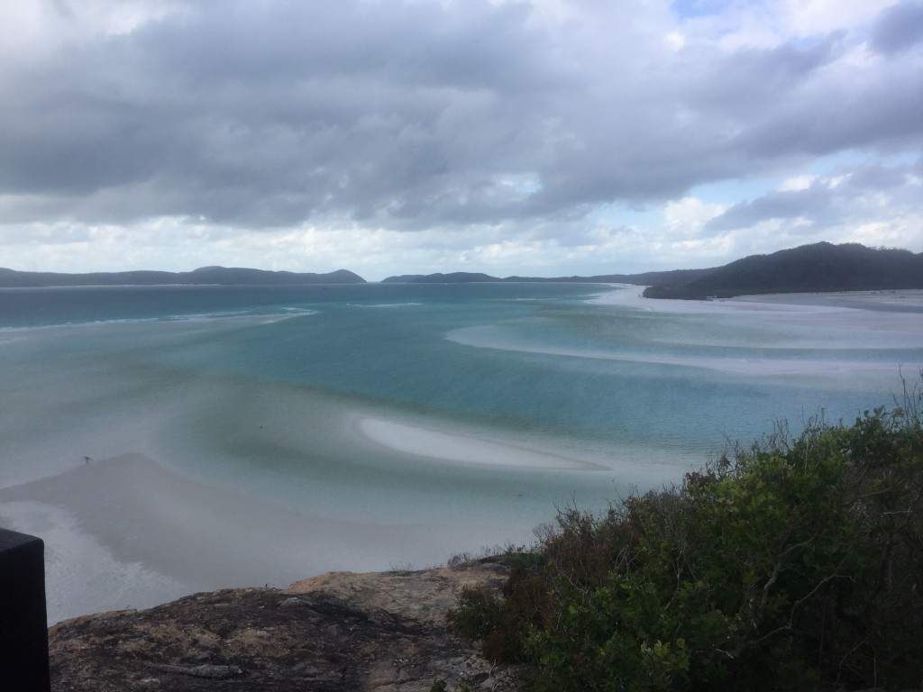 Whitehaven Beach - the white sandbars and blue-ness of the water was a spectacular site.  One of my favourite beaches that I've seen in Australia